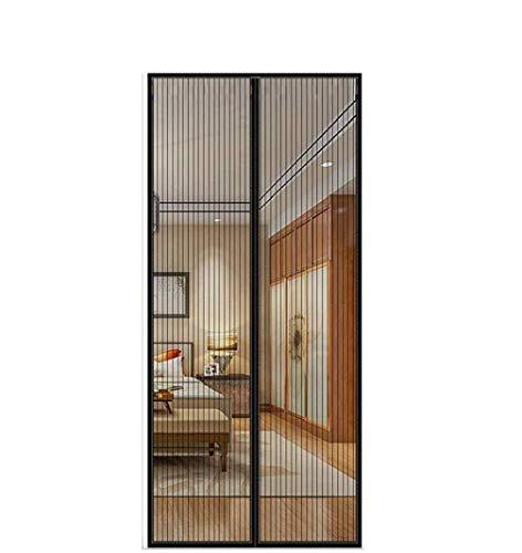 FENG Cortina magnética para protección contra insectos, para puerta de coche, cierre magnético, sin perforación, para puerta de balcón y terraza, B-negro., 170x230cm