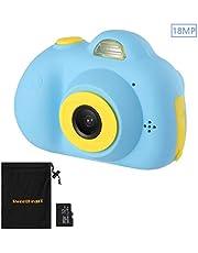 SweetHeart 子供用デジタルカメラ 子供プレゼント 前後1800万画素 18MP 2.0インチIPS画面 多機能 子供カメラ 32GB容量MicroSDカード付き
