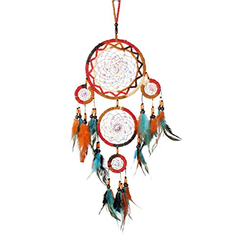Yeptop Hand Decorations Wall Kid Dream Catchers Feather Colors Dream Catchers for Room Environmental Material