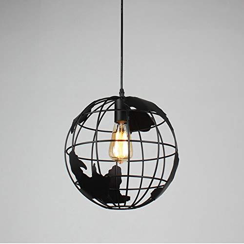 Erde Kronleuchter, Moderne Metall Weltkarte Kronleuchter Runde Deckenleuchte, Geeignet Für Esszimmer Schlafzimmer Wohnzimmer, Höhenverstellbar,Black