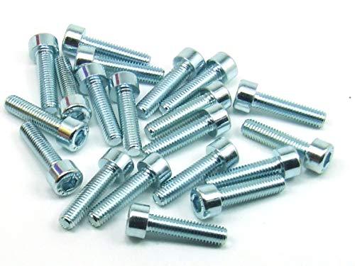 POPESQ® 20 Stk. x Schrauben M5 20mm Lang INBUS Stahl Zink CNC 3D Drucker / 20 pcs. x Screws M5 20mm Long INBUS Steel Zinc #A2283
