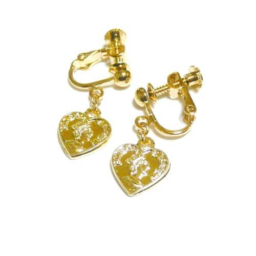 【 HEARTS 】 コイン チャーム の イヤリング / ゴールド トーン