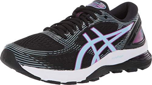 ASICS Women's Gel-Nimbus 21 Running Shoes, 9M, Black/Skylight