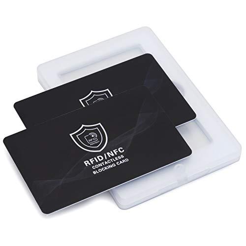 Bloqueador RFID Tarjeta RFID NFC Protector de Tarjetas de Crédito sin Contacto Card Shield Proteccion RFID para Tarjetas de Crédito y Pasaporte