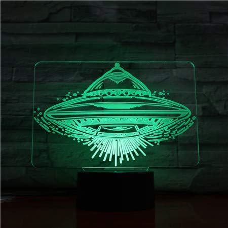 Abstract 3D-nachtlampje voor kinderen in het vliegtuig, 7 kleuren, veranderende optische illusie, kinderlamp, perfecte cadeaus voor jongens, meisjes, Kerstmis, verjaardag of vakantie