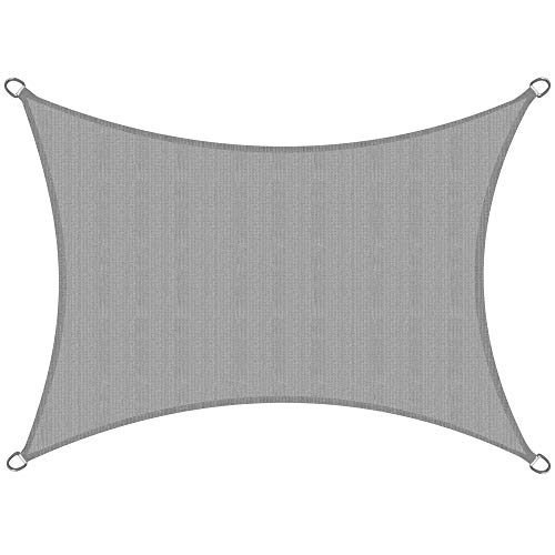 Sol Royal Voile d'ombrage SolVision HS9 400x300cm - HDPE Tissus Respirant - Gris - Voile d'ombrage rectangulaire - Toile terrasse Protection UV