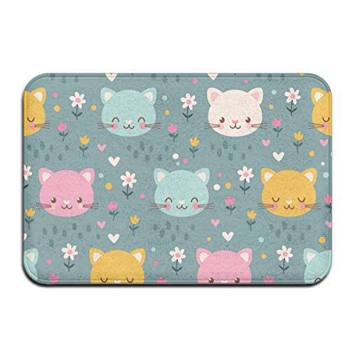 NA patroon met kitten Rug Deur Mat Rug Floor Mats voor front outside deuren Entry Carpet 50 x 80 x 1,3 cm