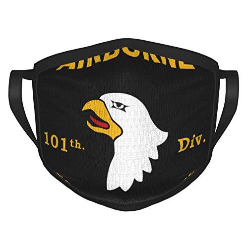 TRUJDNS Airborne 101 Mundbedeckung Waschbares Tuch Sportmaske für Männer Frauen Radfahren Camping Reisen