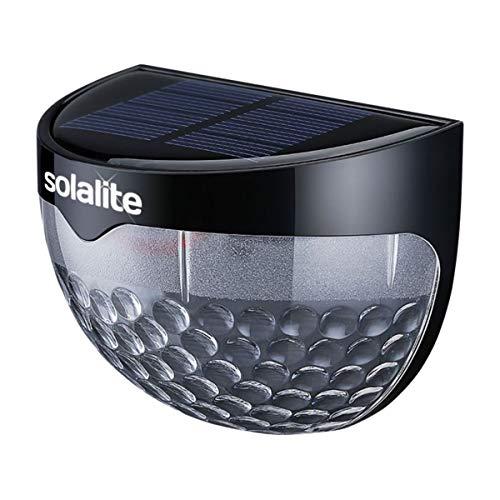 SmashingDealsDirect 6 Luces LED solares de Seguridad para Valla – Todo Tipo de Clima, iluminación LED Impermeable Funciona con energía Solar, Negro, Twelve