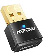Mpow Bluetooth 5.1 USB Adapter for PC, Bluetooth Dongle Supports Windows 7/8.1/10, for Desktop, Laptop, Mouse, Keyboard, Headset, Smartphone