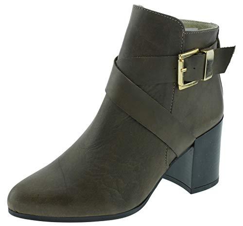 Heine 192339 Ankle Boots braun, Groesse:35.0