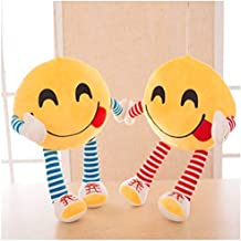 Frantic Pandora Plush Feeling Hungry Decorative Smiley Pillow Cushions with Soft Hands and Legs -Pack of 2