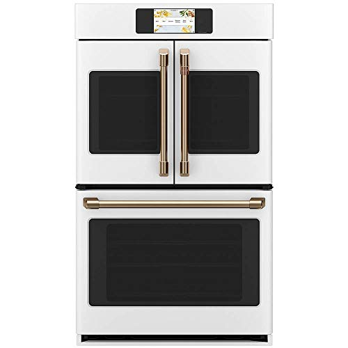 """Cafe Professional Series 30"""" Built-In Convection French-Door Double Wall Oven"""