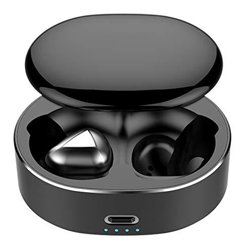 Kabelloser Mini-Kopfhörer - Bluetooth-Headset mit 5,0-Stereo-Headset Kopfhörer mit Geräuschunterdrückung Kopfhörer mit Ladekiste Wasserdichtes Mikrofon