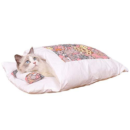 Saco de dormir para gatos, cálido nido para perros, saco de dormir para mascotas, cueva exterior, suave y acogedora.