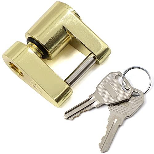 Candado para remolque, con 2 llaves, de acero y aleación de aluminio de alto rendimiento