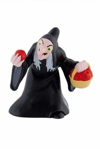 Bullyland 12485 - Spielfigur, Walt Disney Schneewittchen, Hexe, ca. 6,5 cm groß, liebevoll handbemalte Figur, PVC-frei, tolles Geschenk für Jungen und Mädchen zum fantasievollen Spielen