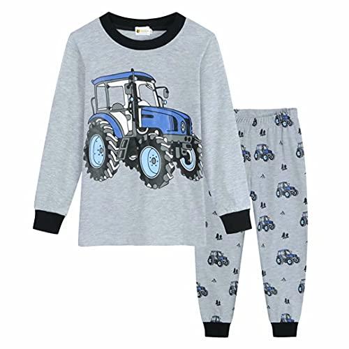 IHPUKIDI Jungen Schlafanzug Langarm Auto Jeep Baumwolle Herbst Winter Kinder Nachtwäsche Pyjama Sets 92 98 104 110 116 122