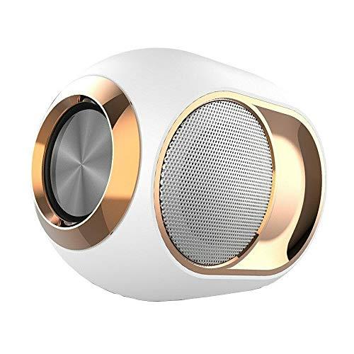 TCYYS-HIGH-END DRAHTLOSER Lautsprecher - 108 DB X6 Bluetooth-Lautsprecher Subwoofer Drahtlose TWS-Reihenschaltung TF-Karte Audio-Player Stereo-Sound (Weiß)