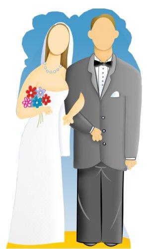 Hochzeit Paar Stand-in - Stand In LEBENSGROSSE POSE MIT PAPPFIGUREN / STEHPLATZINHABER / AUFSTELLER
