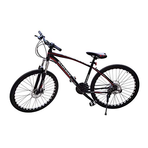 PREMIUMA Marvbike 21 Speed Mens Mountain Bike 24 Inches Wheels Bicycle Front Suspension MTB, Red