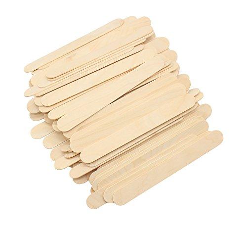 Stecche in legno naturale, grandi dimensioni, larghe, multiuso, per manici di ventagli, prodotti artigianali fai da te, cibo, bellezza, matrimoni e molto altro, 20 cm, confezione di 100 pezzi