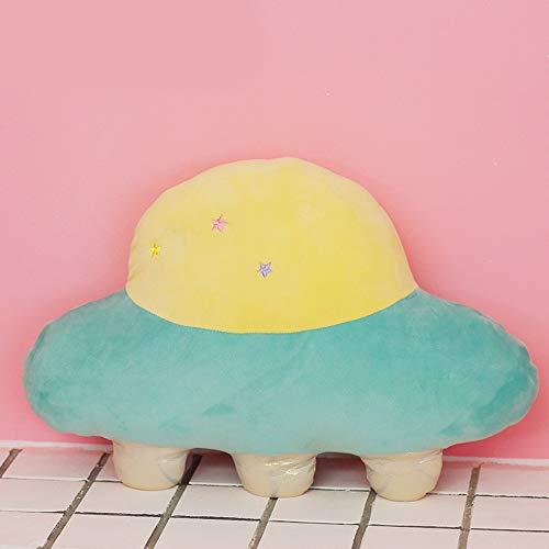 Plush Pillow Toys Spaceship Shape, Plush Stuffed Toy for Kids Room, Soft Hugging Plush Toys, Cute Kawaii PlushPillow, Galaxy Spaceship Stuffed Throw Pillow Plush for Kids, Girl, Boy