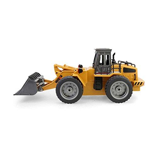 RC Auto kaufen Baufahrzeug Bild 2: 2.4GHz RC ferngesteuerter Bagger Baustellen-Fahrzeug, Modell mit viele Metallbauteile, schwenkbarer Schaufel Radlader, Ready-To-Drive, Komplett-Set RTR*