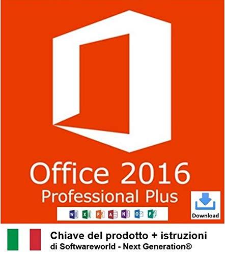 Chiave del prodotto Office Professional Plus 2016 a 32/64 bit con istruzioni da Softwareworld - Next Generation®