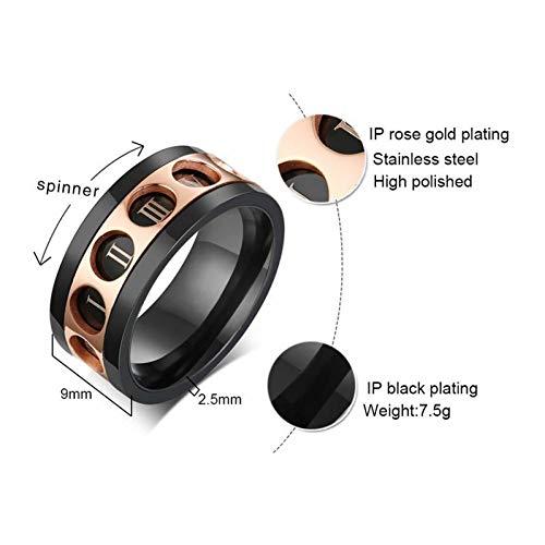 ERDING Fashion Cadeau/Unieke Spinner Ringen voor Mannen Sieraden metIII III IV V VI Romeinse cijfers Mannelijke Accessoire Ring mannelijk