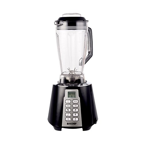 BioChef Nova – Batidora de Vaso | Blender | Batidora Americana de Vaso | 1600W | 28.000RPM | BPA Free | 6 Programas (Negro)
