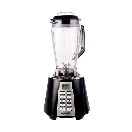 Blender BioChef Nova - Mixeur Haute Performance et Blender à Smoothie - 1600 W, 28 000 tr/min, Bol 2L sans BPA avec 6 Programmes et Fonction Pulse (Noir)