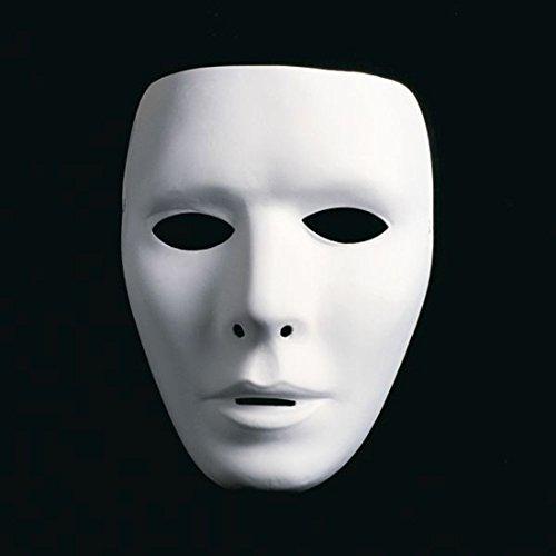 NET TOYS Neutrale Herren Phantommaske Weiße Männer Maske Gesichtsmaske Ball Maske Opernmaske Karnevalsmaske Faschingsmaske