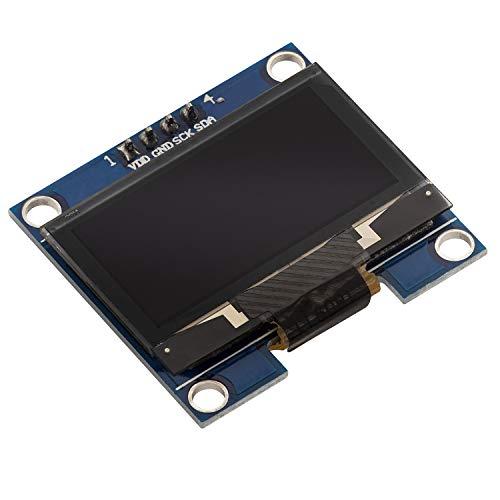 AZDelivery Modulo Pantalla OLED Display I2C 128 x 64 pixeles 1.3 Pulgadas con caracteres blancos compatible con Arduino y Raspberry Pi con E-Book incluido!