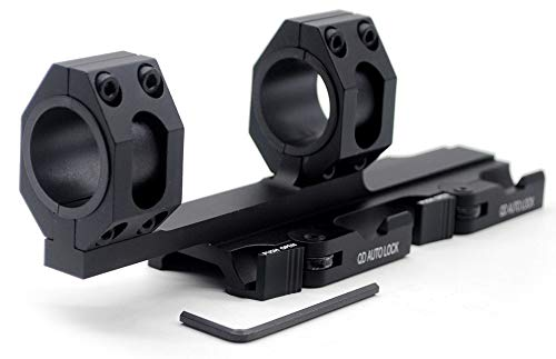 TriRock Quick Detach Release 25.4mm 30mm Dual Rings Scope Lever Mount fits 20mm Cantilever Picatinny Rail Hunting Accessories