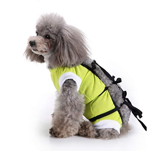 VICTORIE Mascotas Trajes de recuperación quirúrgica Ropa Chaleco de recuperación pequeños Gatos y Perros Verde L