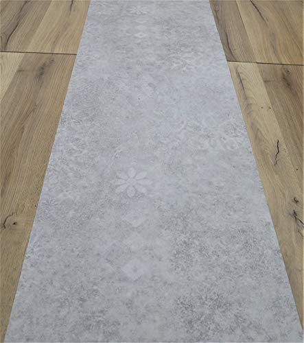 Tapis en vinyle pour cuisine, salle de bain – au demi-mètre – Tapis en vinyle, fond en PVC expansé – Largeur 50 cm 50cm gris clair