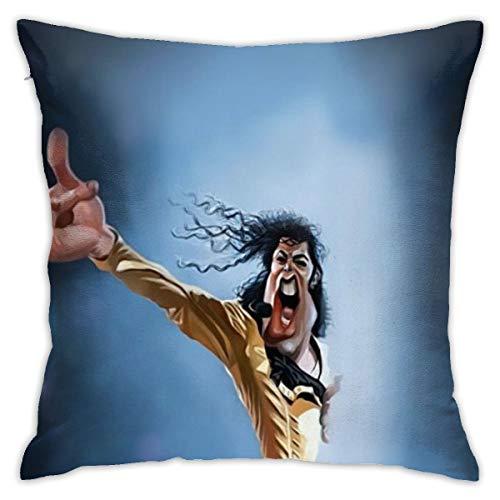 Shadidi Nirvana Fundas de almohada de algodón y poliéster, fundas de almohada para sofá, decoración del hogar, 45 x 45 cm, almohada de 18 x 18 pulgadas, poliéster, M-ichael J-ackson 6, talla única