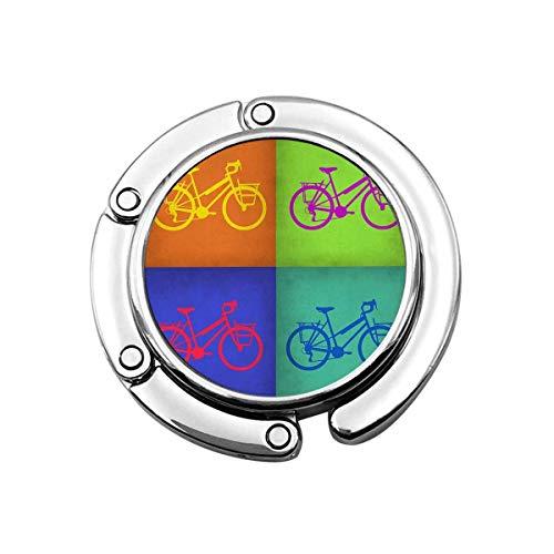 Colorido Vintage Bicicleta Monedero Gancho Plegable Bolso Percha Bolso Titular Para Mesas...