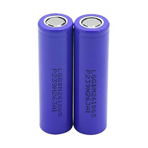 hsvgjsfa 3.7v 18650 2600mah Litio Batteires, Volt High Drain 10A Battery Se Puede Utilizar para Herramientas EléCtricas Etc 2pieces