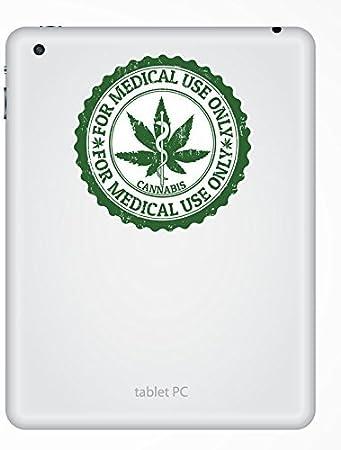 2 x 15cm//150 mm Le Cannabis Autocollant de fen/être en verre Voiture Van Locations #4652