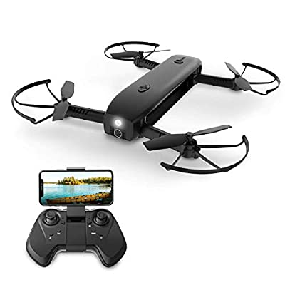 Holy Stone Foldable FPV Drone with 1080P HD Camera for Adults with Portable Charger Function and Optical Flow Positioning, RC Quadcopter with Handheld Camera Mode, Modular Battery, 8G Tf Card, HS161