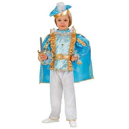 Widmann 49209 kinderkostuum droomrins, jongens, turquoise-blauw, 104 cm