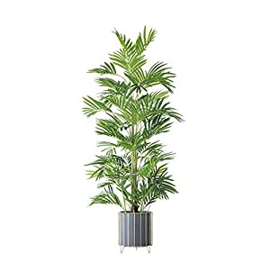 PIVFEDQX Artificial Tree Simulation Tree Fake Plant Artificial Bamboo Palm Tree Leaves Tropical False Bamboo PE Leaf Branches for Garden Jungle Party Decor Fake Trees (Size : 163cm)