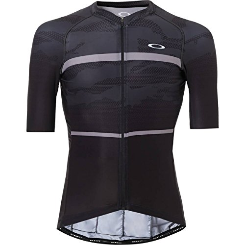 Oakley Men's Jawbreaker Road Jersey Shirts,Large,Blackout