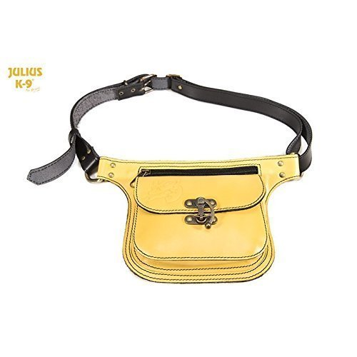 Julius-K9 Yellow Cowhide Leather Dog Satchel Bag