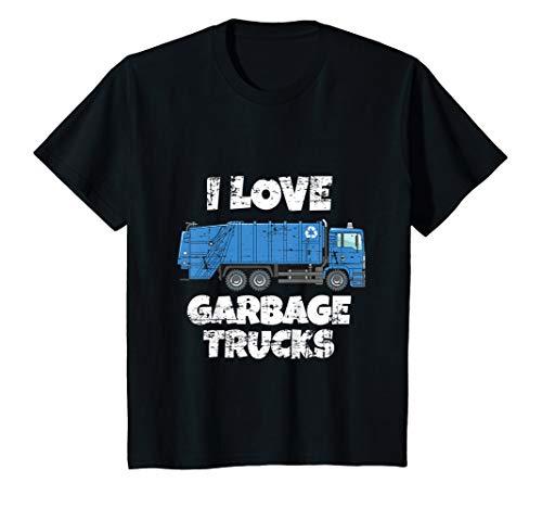Kids VINTAGE I Love Garbage Trucks Shirt - Boy Girl T Shirt