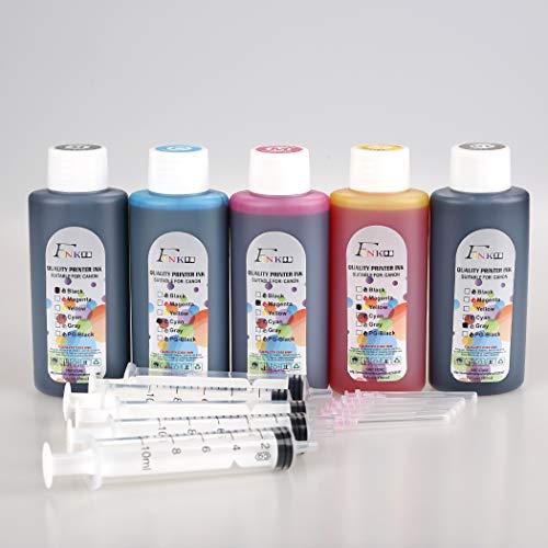 FINK 5 botellas de tinta de calidad compatible con Pixma PG-540 CL-541 PG-545 CL-546 PG-510 CL-511 PG-40 CL-41 PG-37 CL-38 PG-830 CL-831 PG-512 CL-513