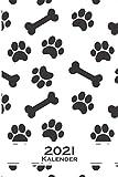Hund Tatze Pfote Knochen Muster Kalender 2021: Jahreskalender für für Freunde der Symmetrie und Muster