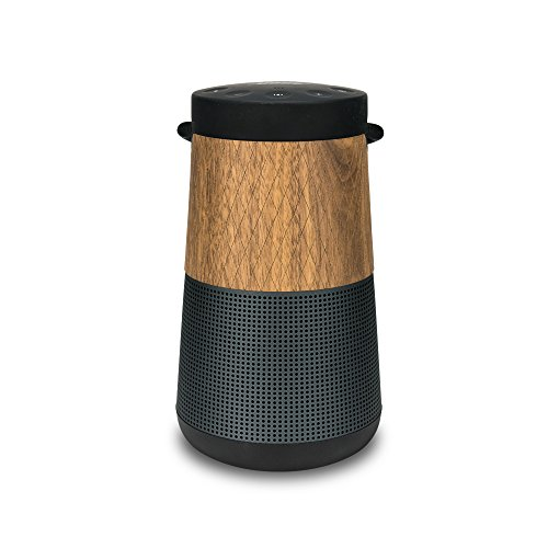 balolo® Walnuss Echtholz-Cover für Bose Revolve+ - Design Hülle Cover Skin Schutz-Hülle - 100prozent Handmade in Germany - 100prozent amerikanisches Walnuss-Holz